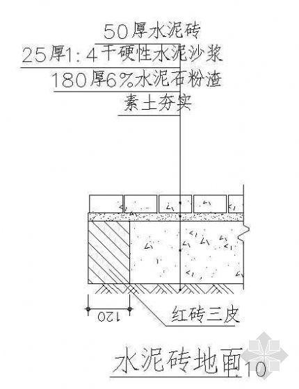 园路铺装剖面详图(12)