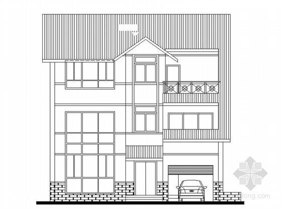某三层度假别墅建筑扩初图(250平方米)