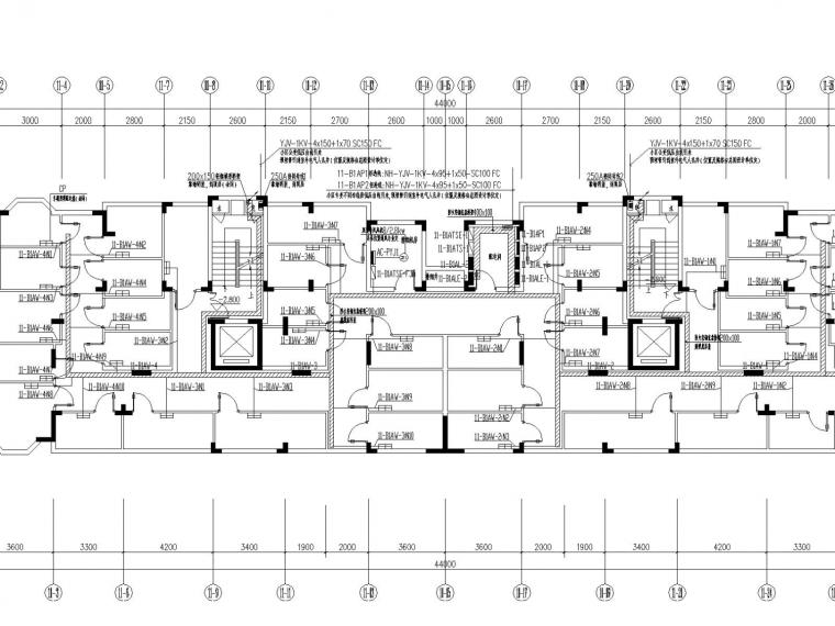 [浙江]住宅小区全套电气施工图设计(节能设计)