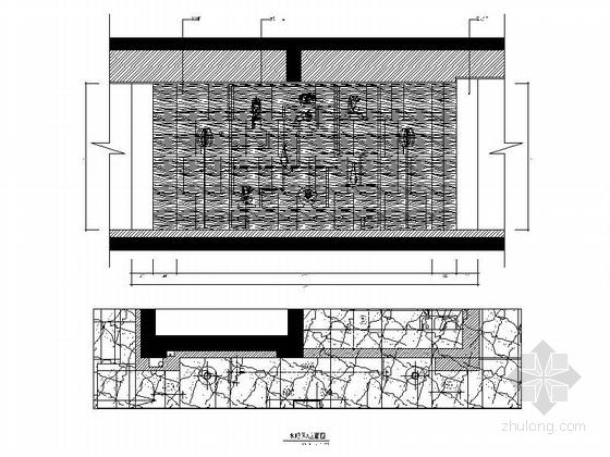 [福建]产权式时尚现代四层别墅样板房装修图水吧区立面图