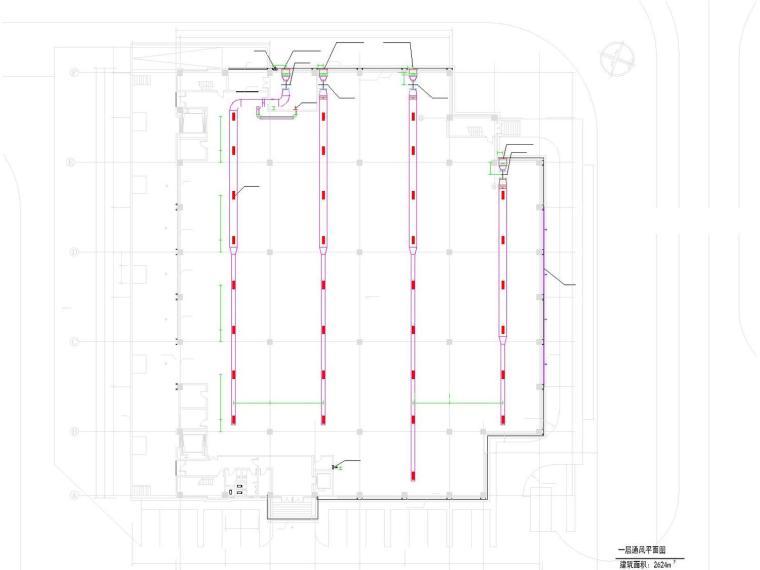 多联分体空调施工资料下载-机场仓库空调通风系统设计施工图