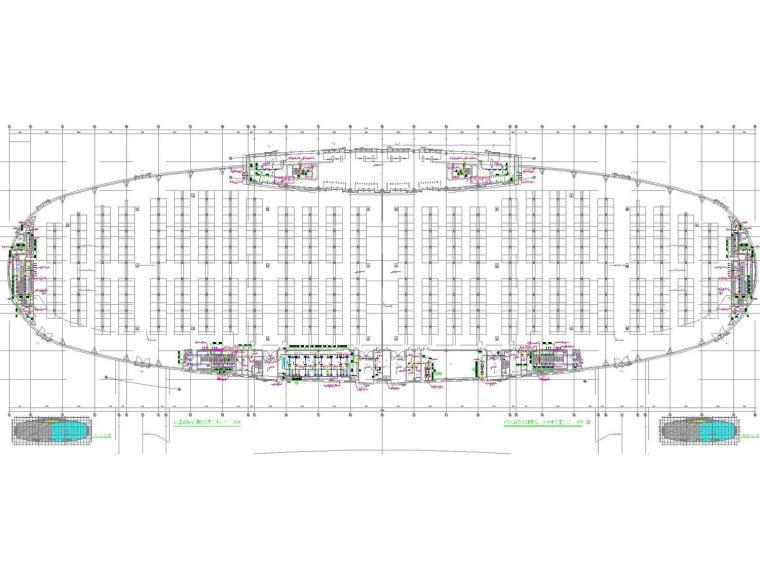 [福建]国际会展中心空调通风及防排烟系统设计施工图(机房设计)