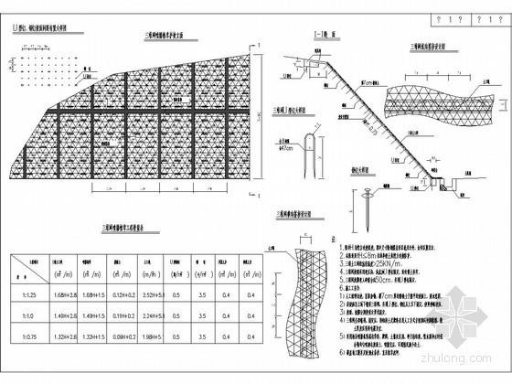 路堑三维网喷播植草护坡设计图