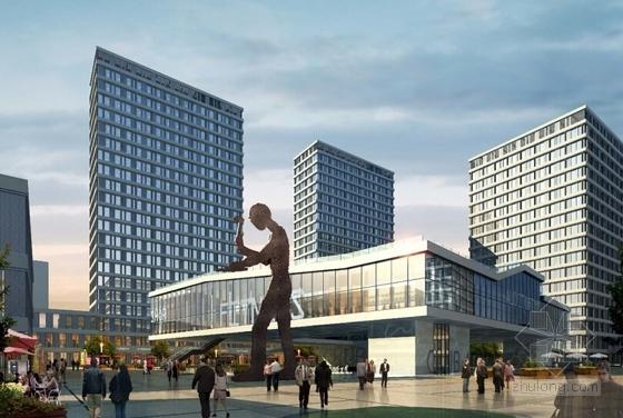 [上海]辐射组合型现代化商业及办公综合体设计方案文本-辐射组合型现代化商业及办公综合体效果图