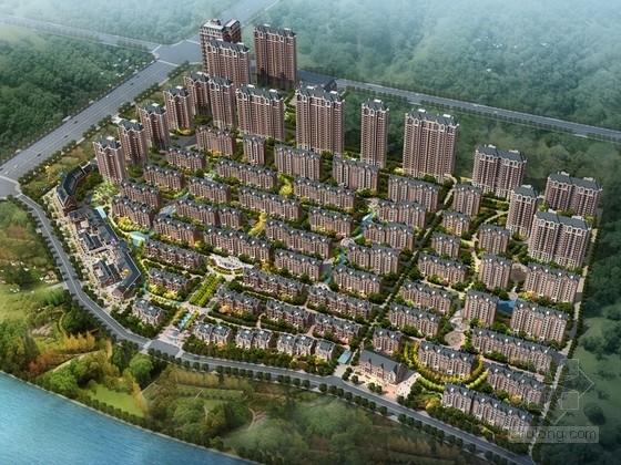 [河南]简欧风格住宅区规划及单体建筑设计方案文本(多种方案)