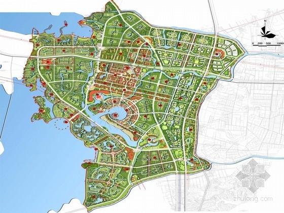 """[湖北]""""吴楚文化""""滨湖生态创意旅游城景观概念规划设计方案"""