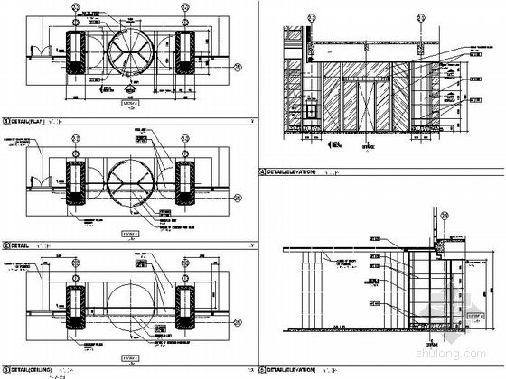 [厦门]中央商务区五星级豪华酒店装修图(含效果)大堂入口节点图