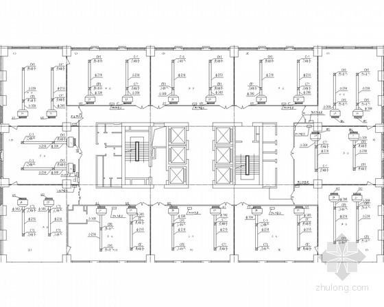 [大连]国际大厦空调系统设计施工图(水源热泵)