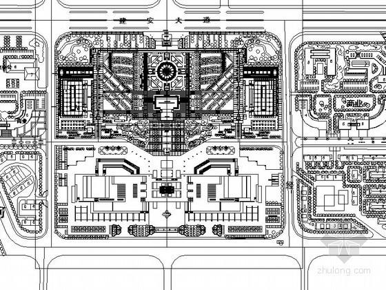 [许昌]某公园主入口广场景观设计施工图