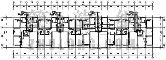 青岛市某专家公寓采暖设计图