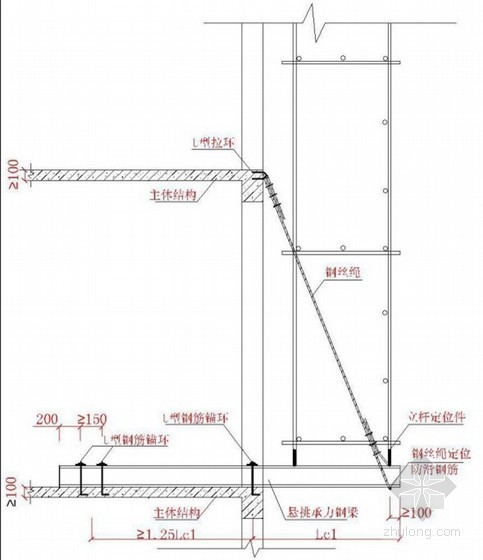 建筑工程高层住宅楼悬挑式扣件钢管脚手架专项施工方案(附图及计算)