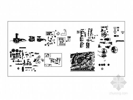 常用景观设计CAD图库
