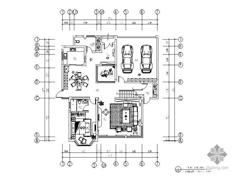 [中式]某景园二层别墅施工图(含实景)