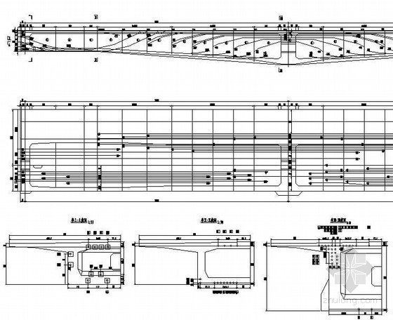 (32+3x48+32)m双线连续梁纵向预应力钢索布置节点详图设计