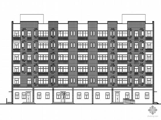 [合肥市]某医药宿舍楼建筑施工套图(乙类节能设计)