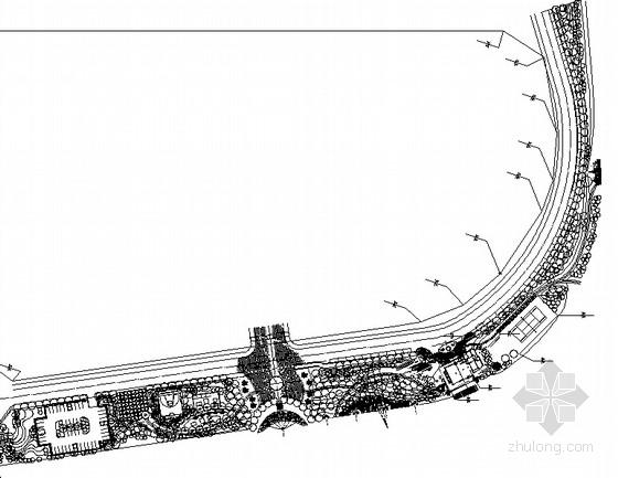 [成都]滨水居住区滨水休闲区域园林景观工程施工图