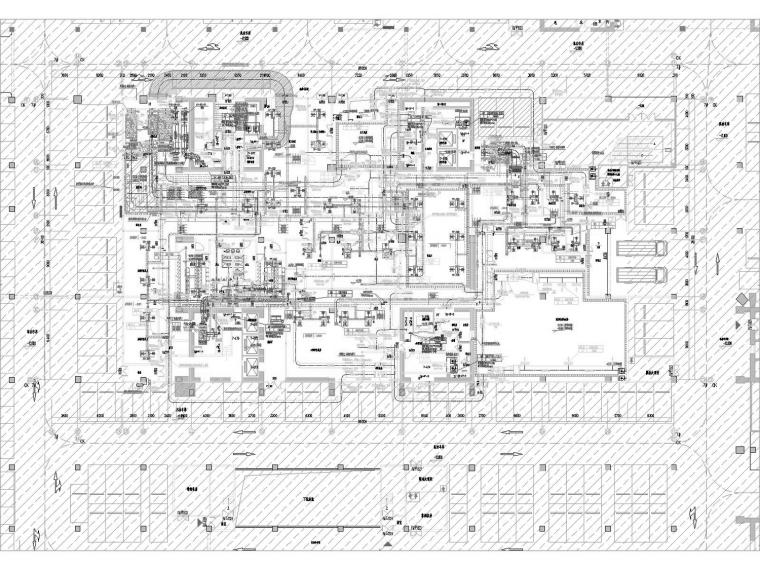 [江苏]文化广场高层酒店空调通风防排烟系统施工图(冷热源设计)