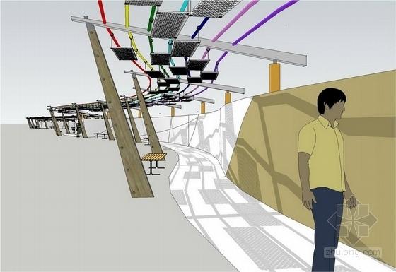 浮雕长廊棚架效果图
