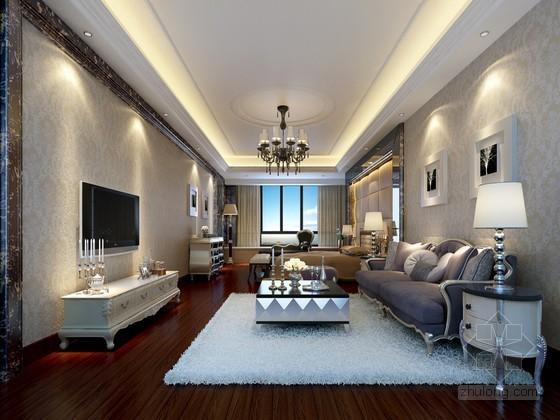 欧式单身公寓3D模型下载