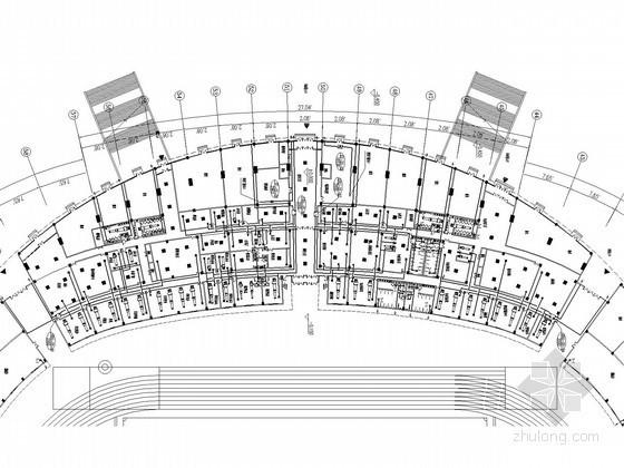 [山东]大型体育馆建筑空调通风系统设计施工图(含采暖设计)