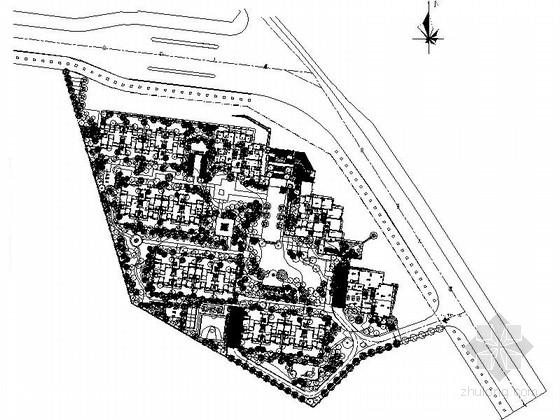 [重庆]山水环境居住区景观设计施工图