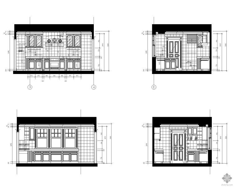跪求: 两栋3层半别墅cad平面图,立面图及效果图,水电安装