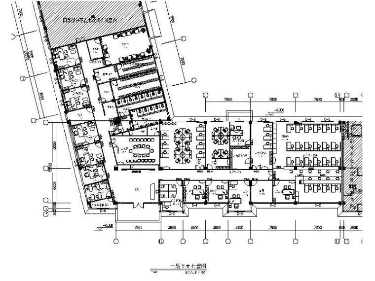 一套详细完整的办公室装修设计施工图