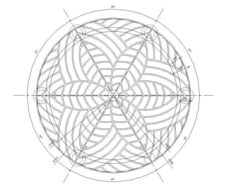 特色亭子设计详图 (混凝土结构)