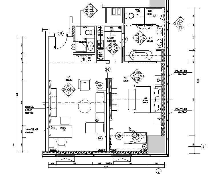[河北]廊坊万达希尔顿逸林酒店设计施工图(附效果图)