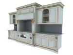 欧式橱柜3D模型下载