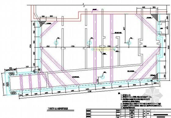 [广东]地下轨道交通风亭及出入口围护结构平面图