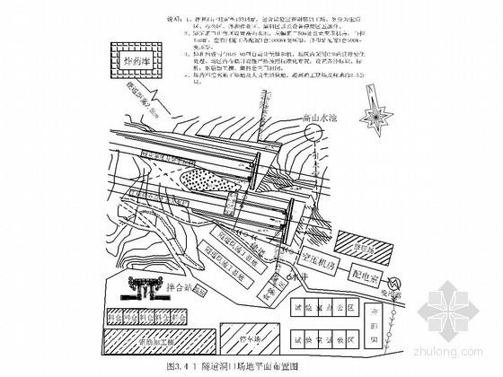 隧道工程施工现场平面布置图(10张)
