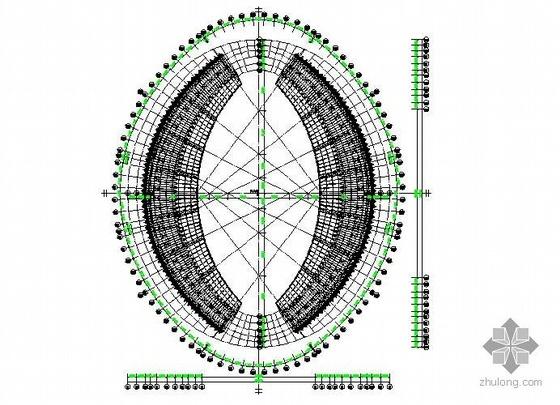 济南某体育场钢结构深化图纸
