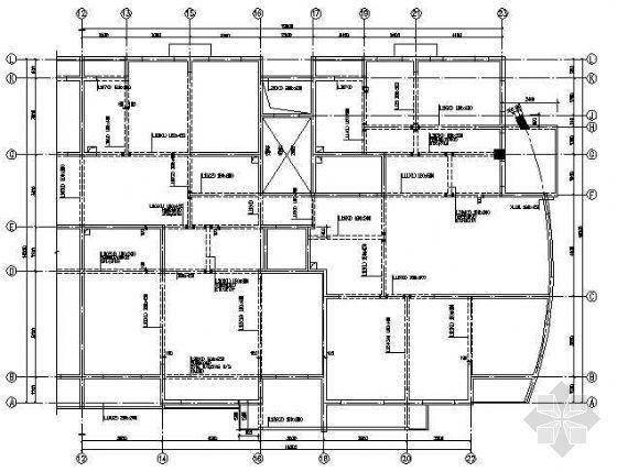 某十层带坡屋顶的小高层住宅楼结施图纸
