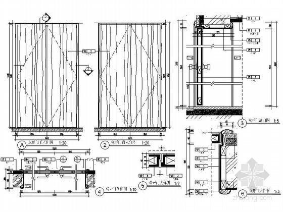 全套门节点CAD图块下载