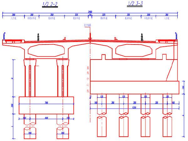 泉河桥全套及主桥引桥图纸413张CAD(中承式拼豆豆图纸猴图片