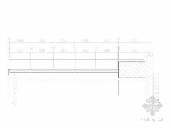 [上海]大型现代风格交通枢纽站设计施工图-大型现代风格交通枢纽站界节点详图