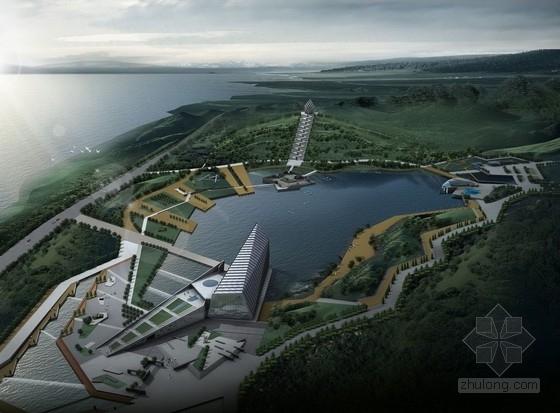 [武汉]舰之魂战争纪念性旅游景区景观设计方案(超精美效果图)-鸟瞰图