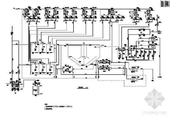 uasb工艺污水处理厂高程图资料下载-江苏某电厂脱硫废水处理系统工艺流程及高程图