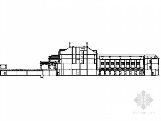 现代风格5层酒店式公寓剖面图