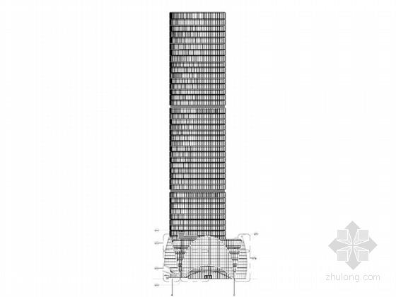 [北京]CBD核心商务区金融中心办公塔楼建筑设计施工图(44层 220米高)