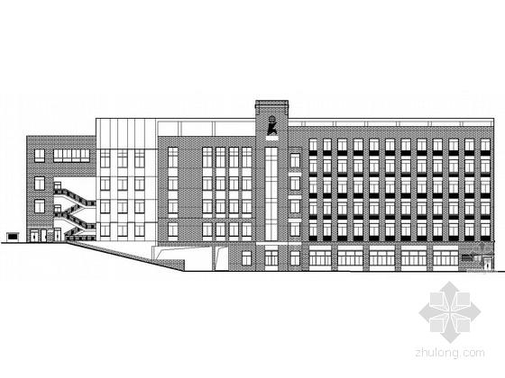 [金华市]某小学五层节能型综合楼建筑施工套图(带公共建筑节能设计表,防空地下室防护功能平战转换表)