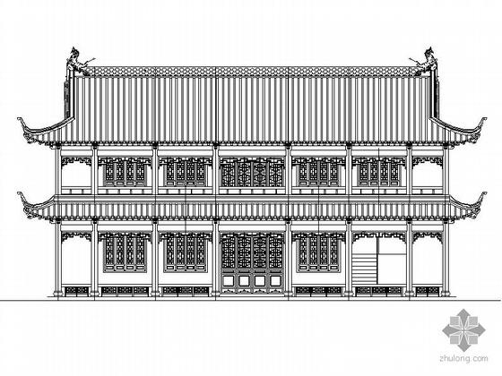 [长春]某二层仿古办公楼建筑施工图