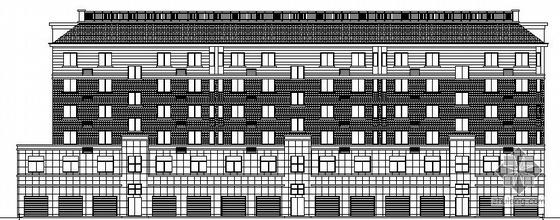 [安徽]某小型住宅小区七幢住宅楼群建筑施工图