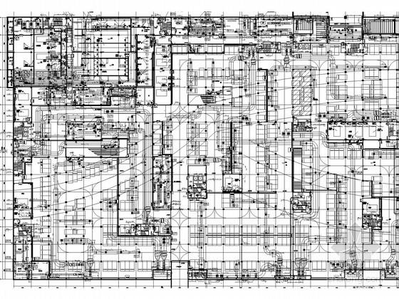 [湖北]27万平商业广场暖通空调通风排烟施工图(著名院设计 燃气冷热电三联供系统)