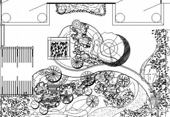 英式别墅花园景观绿化全套施工图