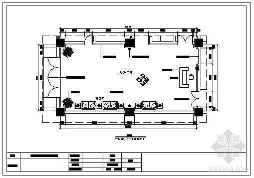 某电信办公门厅装饰施工图