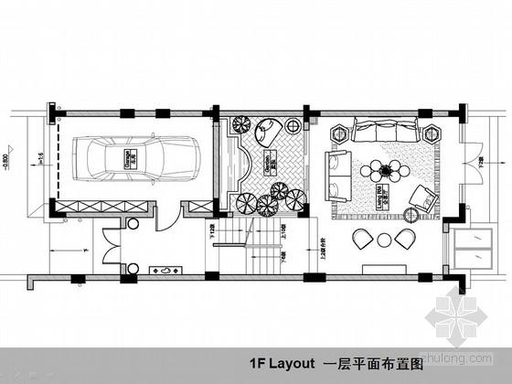[上海]新古典欧式三层别墅样板间设计方案图
