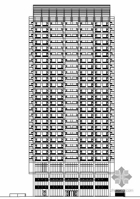 [邯郸市]某招贤大厦建筑人防消防施工图(带效果图)