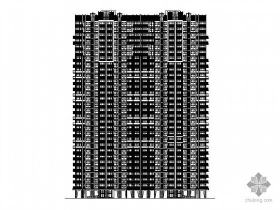 [武汉]某上城2号楼三十层塔式住宅楼建筑施工图(一梯四户)